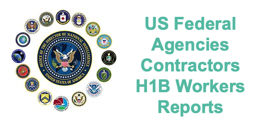 US Federal Agenices Contractors H1B Workers