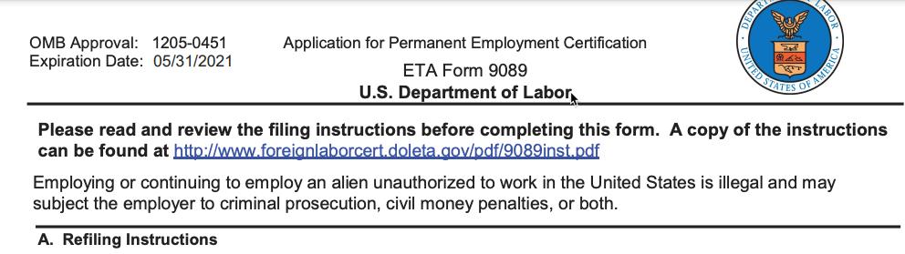 PERM Labor Cert Search Details