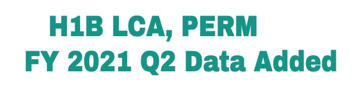 Q2 Data Added H1B LCA